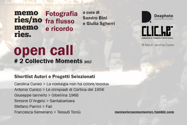 Memories / No Memories #2 Collective Moments > Autori Selezionati
