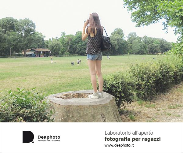 Laboratorio di fotografia per ragazzi all'aperto Deaphoto Firenze
